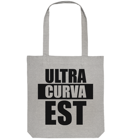 "Ultras Tote-Bag ""ULTRAS CURVA EST"" Organic Baumwolltasche heather grau"