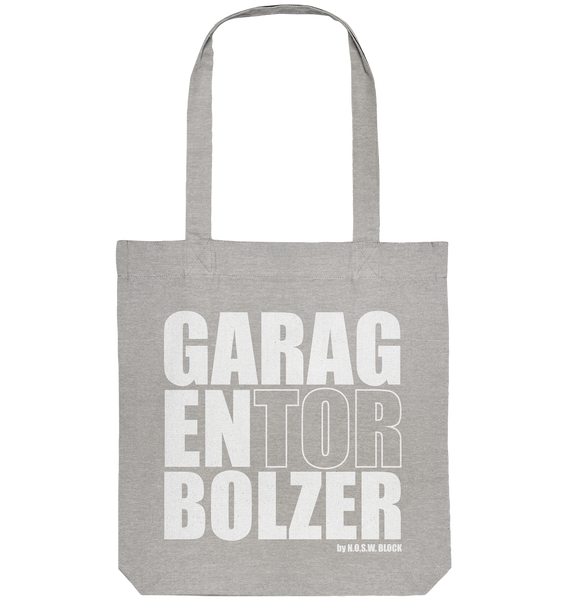 "Teamsport Tote-Bag ""GARAGENTORBOLZER"" Organic Baumwolltasche heather grau"