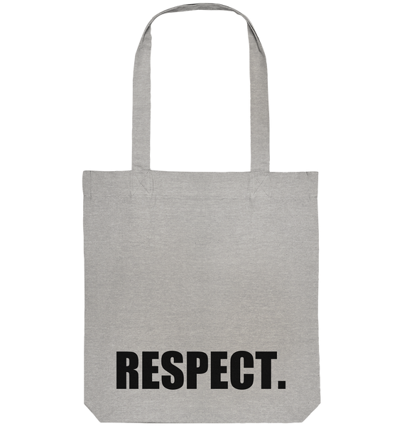 "Fanblock Tote-Bag ""RESPECT."" Organic Baumwolltasche heather grau"