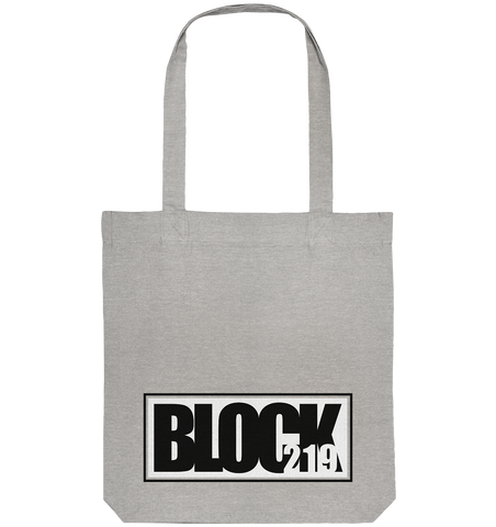 "N.O.S.W. BLOCK Tote-Bag ""BLOCK219"" Organic Baumwolltasche heather grau"