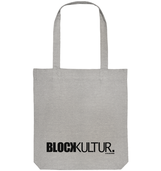 "Fanblock Tote-Bag ""BLOCK KULTUR."" Organic Baumwolltasche heather grau"