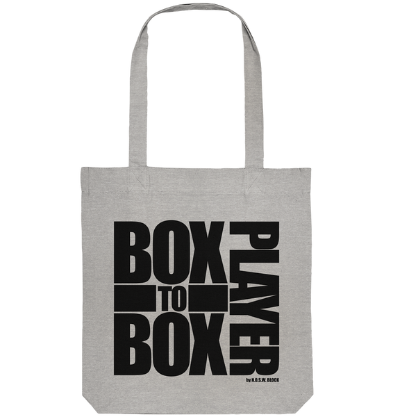 "Fanblock Tote-Bag ""BOX TO BOX PLAYER"" Organic Baumwolltasche heather grau"