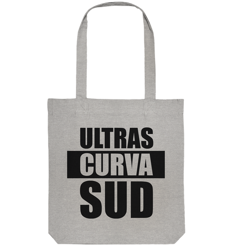 "Ultras Tote-Bag ""ULTRAS CURVA SUD"" Organic Baumwolltasche heather grau"