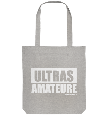 "Fanblock Ultras Tote-Bag ""ULTRAS AMATEURE"" Organic Baumwolltasche heather grau"