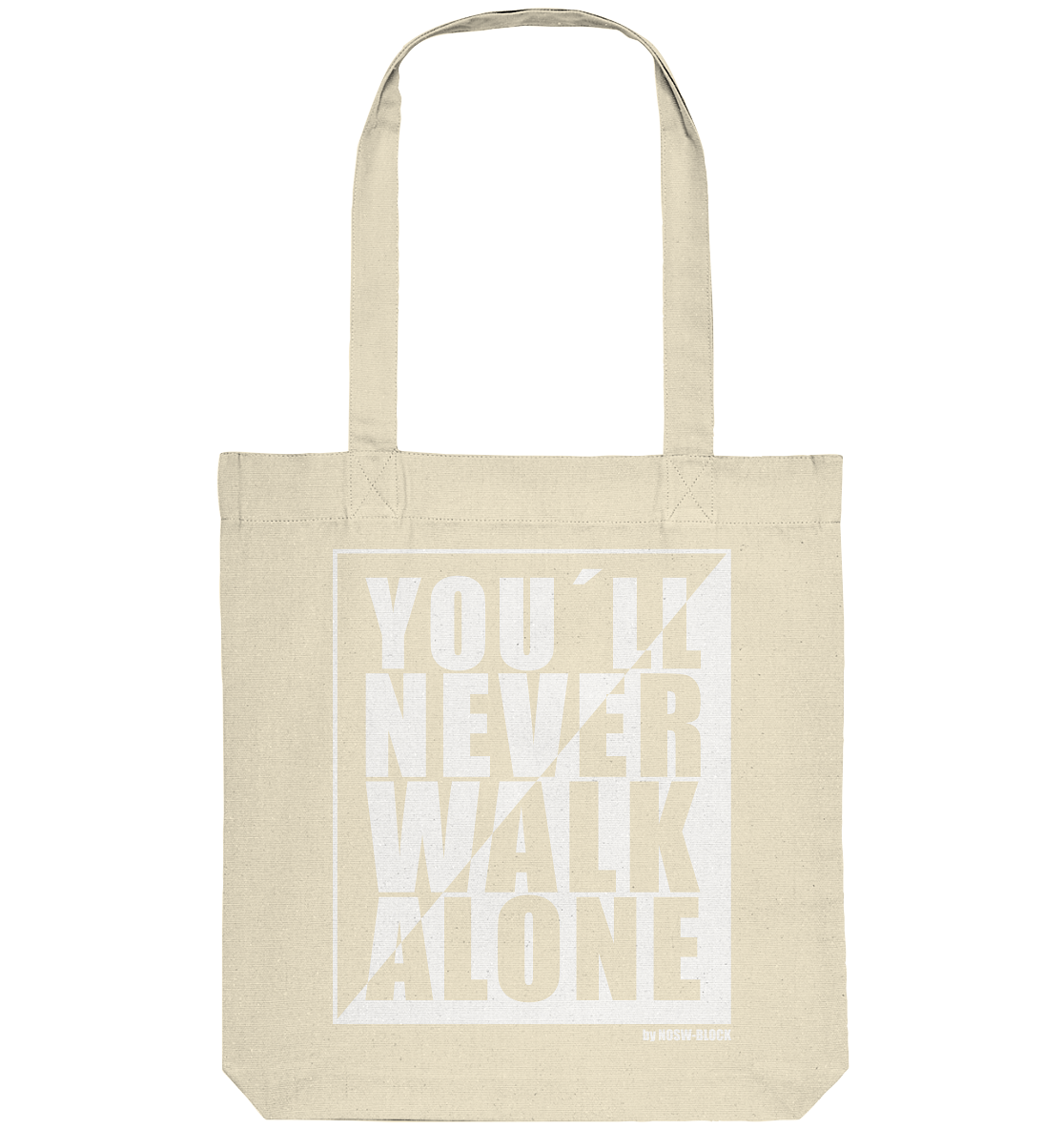 "Fanblock Tote-Bag ""YOU´LL NEVER WALK ALONE"" Organic Baumwolltasche natural"