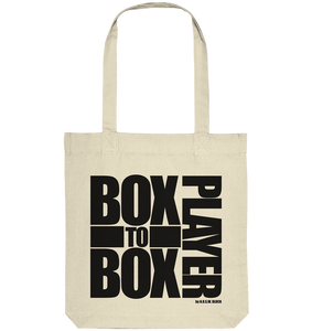 "Fanblock Tote-Bag ""BOX TO BOX PLAYER"" Organic Baumwolltasche natural"
