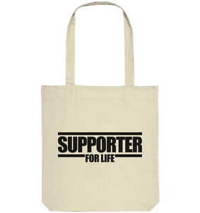 "Supporter Tote-Bag ""SUPPORTER FOR REAL"" Organic Baumwolltasche natural"