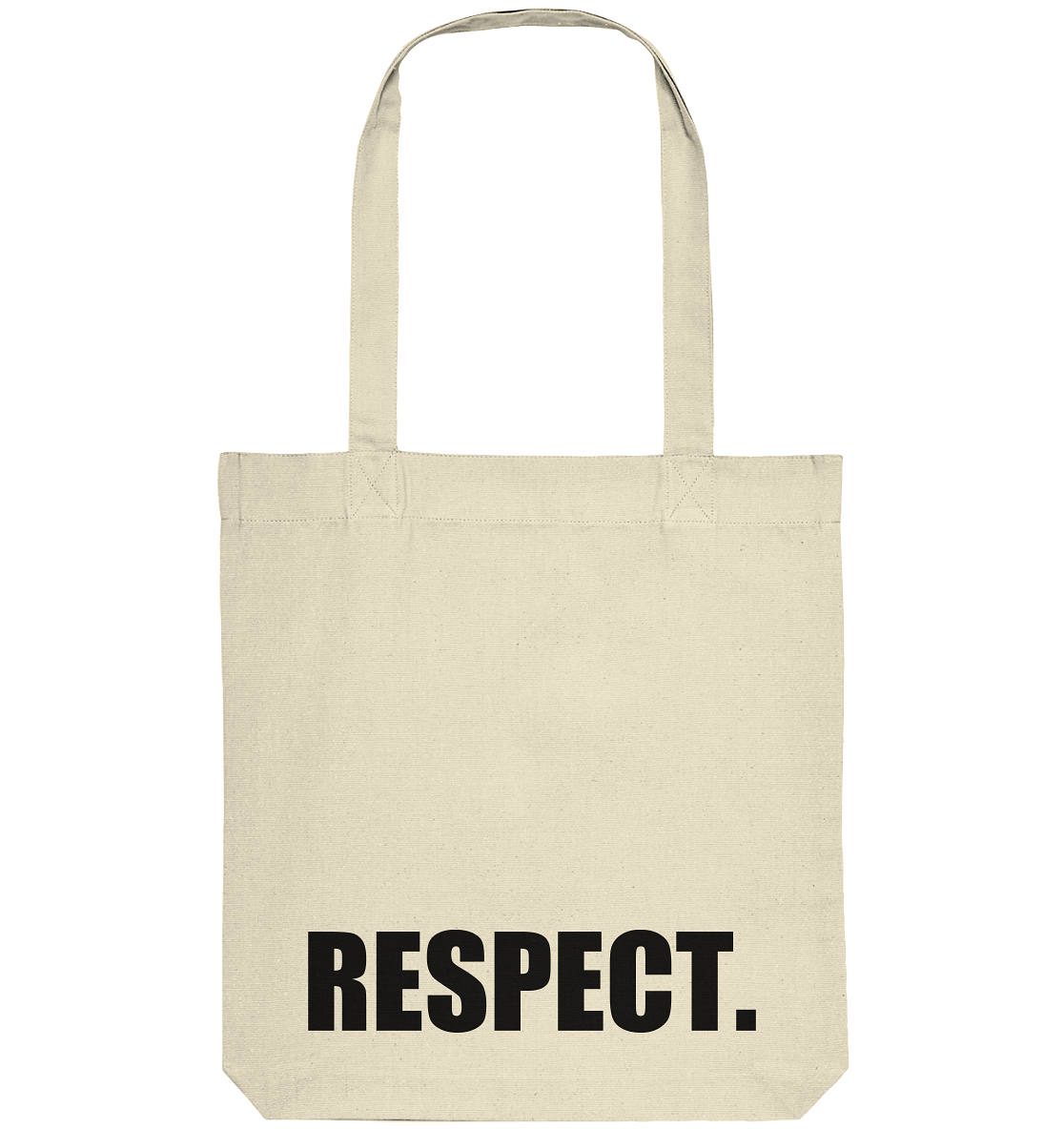 "Fanblock Tote-Bag ""RESPECT."" Organic Baumwolltasche natural"