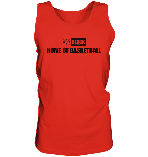 "N.O.S.W. BLOCK Shirt ""HOME OF BASKETBALL"" Männer Organic Rundhals T-Shirt (100% Bio-Baumwolle) - Tank-Top"