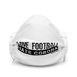 "N.O.S.W. BLOCK ""LOVE FOOTBALL HATE CORONA"" Gesichtsmaske weiss"
