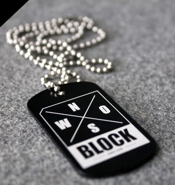 N.O.S.W. BLOCK Logo DOG-TAGZ