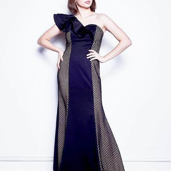 RAYNA ONE SHOULDER LONG DRESS