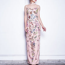 Load image into Gallery viewer, Long Embroidered Beaded Qipao