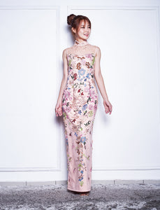 Long Embroidered Beaded Qipao