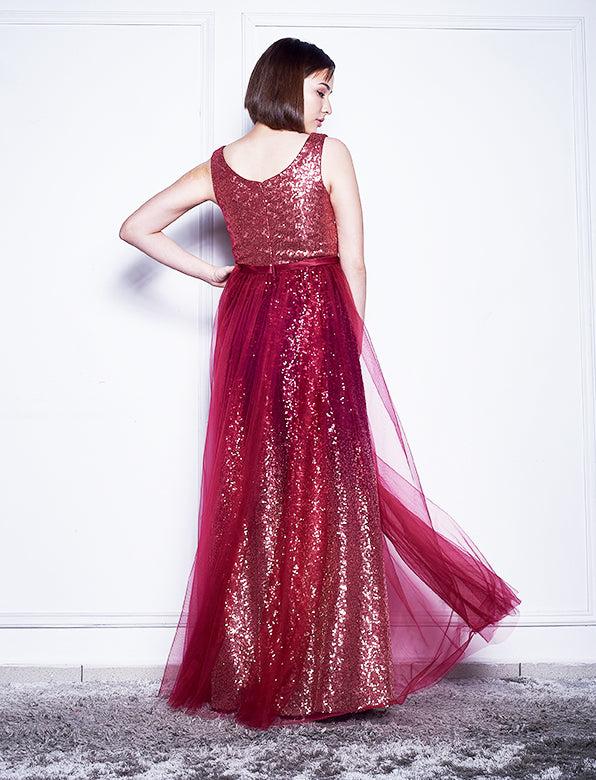 WHITNEY SEQUIN TULLE GOWN