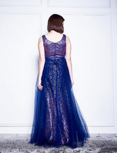 Load image into Gallery viewer, Whitney Sequin Tulle Gown