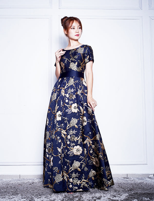 CHARRY BROCADE GOWN