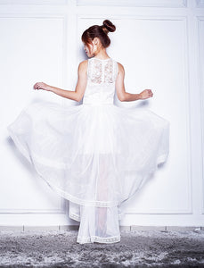 Wesly Guipure Organza Dress