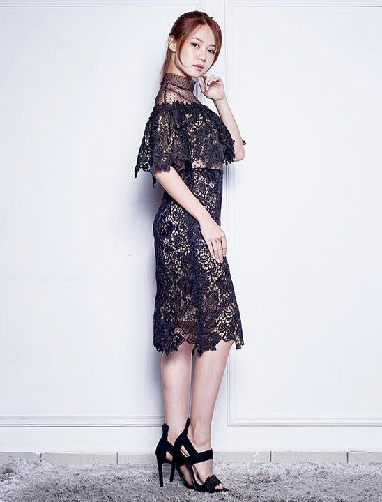WINOWA GUIPURE LACE DRESS