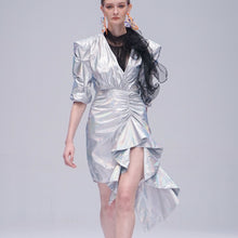Load image into Gallery viewer, Maglifestyle Silver Metalic Dress