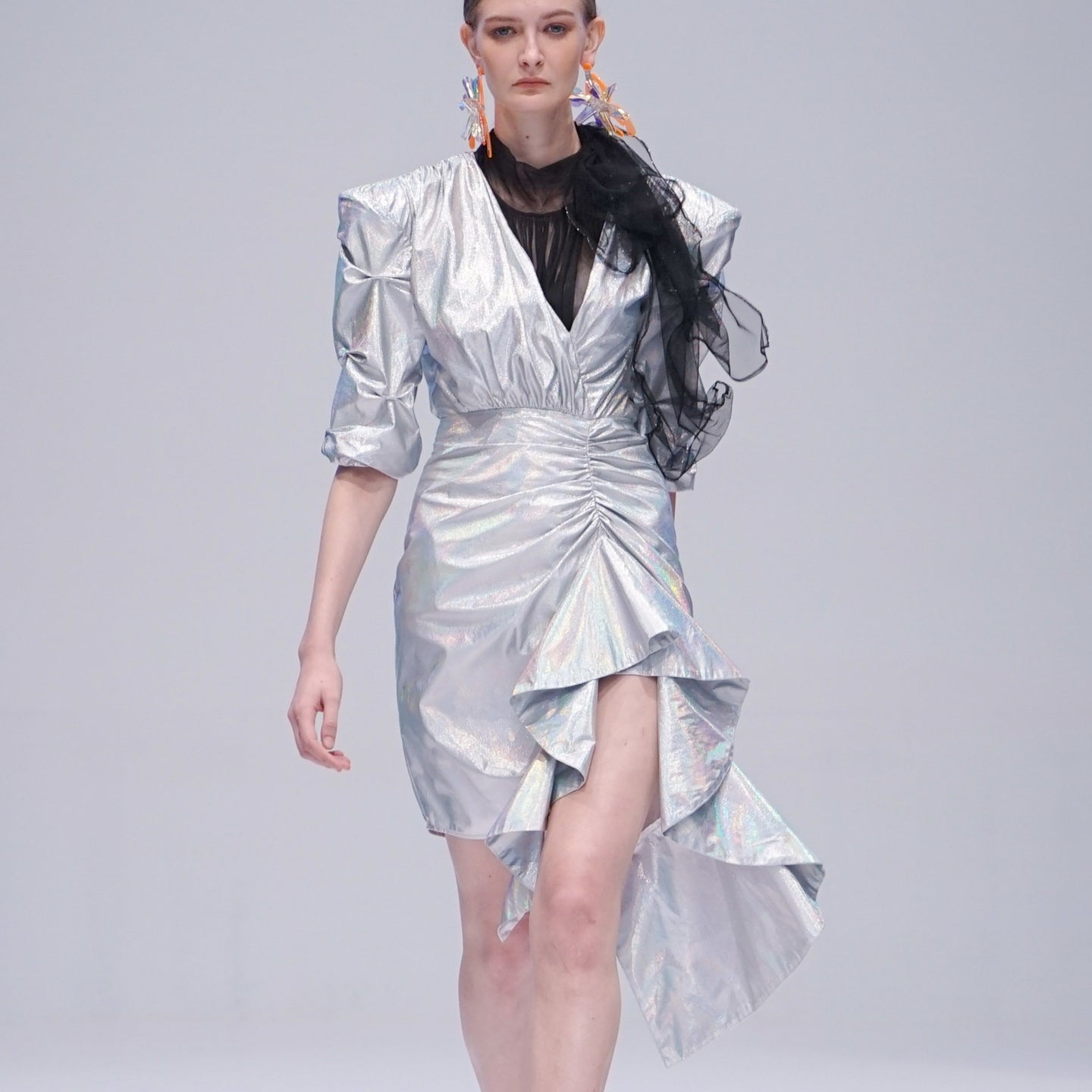 Maglifestyle Silver Metalic Dress