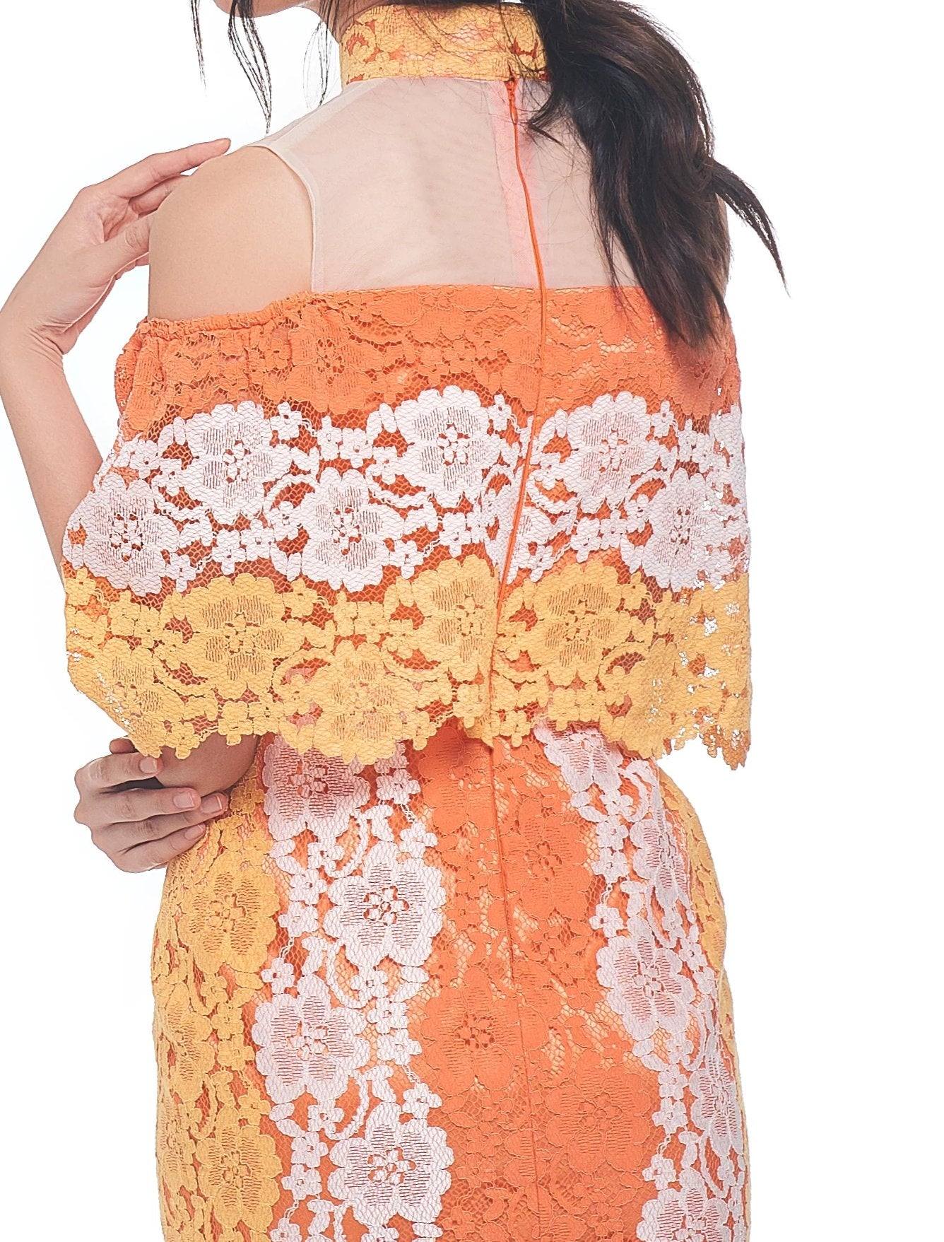 Color Lace Qipao