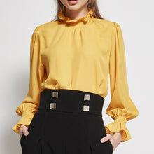 Load image into Gallery viewer, Ruffle Neck Blouse