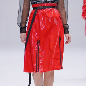 Maglifestyle Patent Leather Skirt (PREORDER)