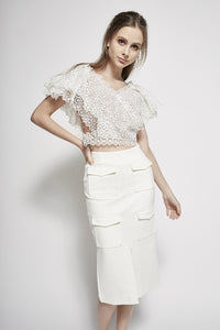 Guipure Lace Cropped Top