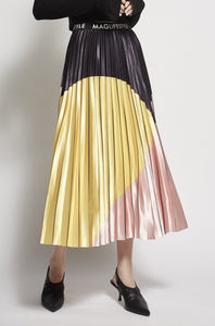 Abstract Pleated Skirt