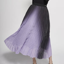 Load image into Gallery viewer, Purple Pleated Skirt
