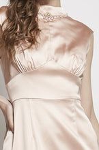 Load image into Gallery viewer, Brenda Necklace Beaded Satin Gown