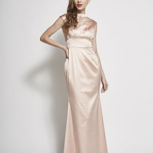 Brenda Necklace Beaded Satin Gown
