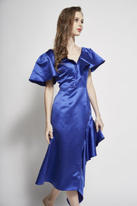 Shilo Ruffled Asymmetric Dress