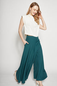 Cotton Flare Pants