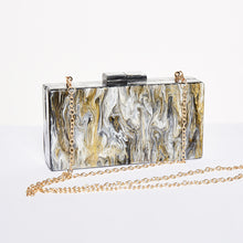 Load image into Gallery viewer, Marble Box Clutch Bag