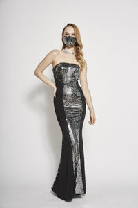 Helena Metallic Tube Dress