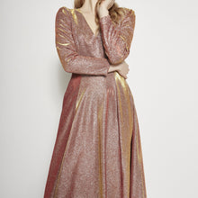 Load image into Gallery viewer, Aubree Long Sleeve Shimmering Maxi Dress