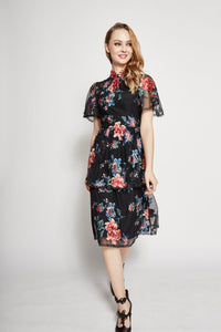 Aliyah Embroidered Layered Qipao
