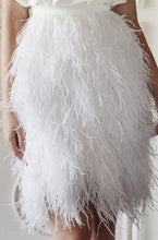 Load image into Gallery viewer, Caslyn Ostrich Feather Shirt Dress