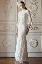 Load image into Gallery viewer, Jeslyn Trumpet Sleeve Beaded Lace Dress