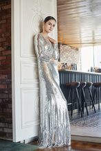 Load image into Gallery viewer, Avis Beaded Sequin Maxi Dress