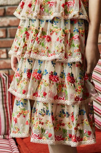 Brianna Embroidered Layered Dress