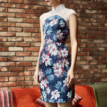 Load image into Gallery viewer, Chryta Lace Printed Qipao
