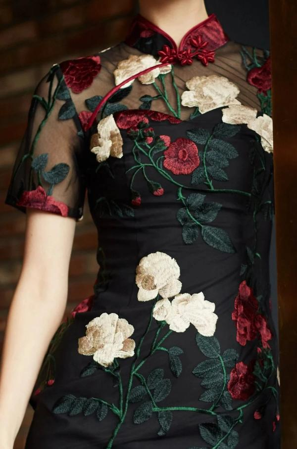 Ambra Embroidered Qipao