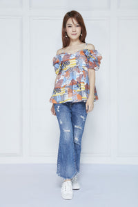 Printed Geometric Top