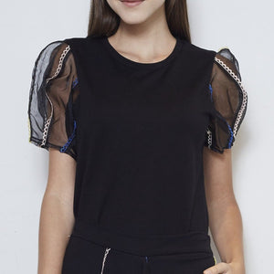 Trio Embroidered Top