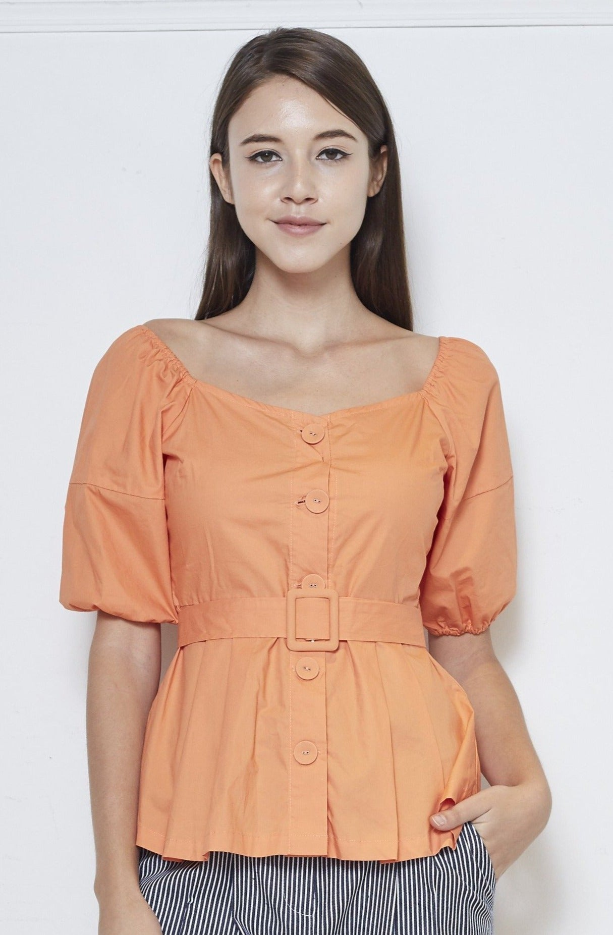 Cotton Top With Belt
