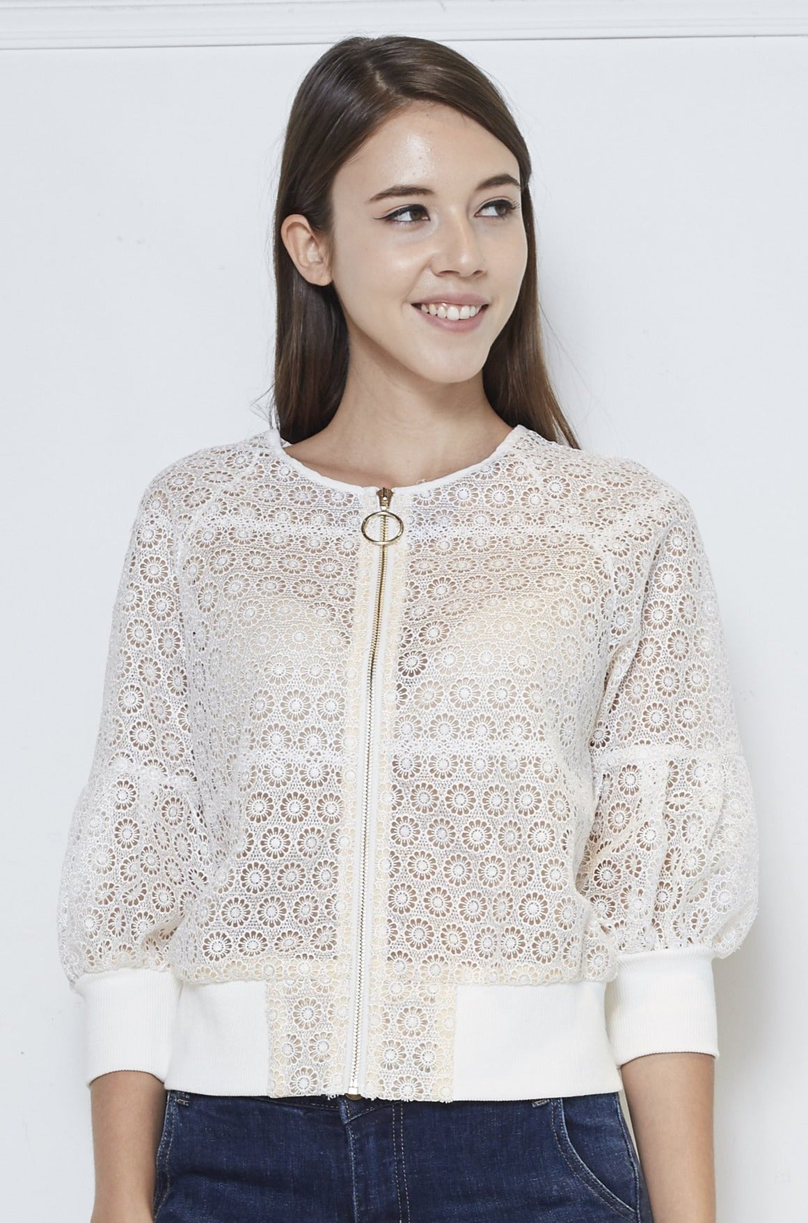Guipure Lace Jacket