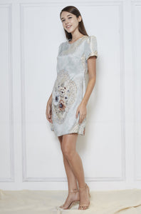 Barbara Jacquard Sleeve Dress